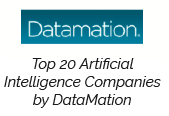 Datamation Top 20 Artificial Intelligence Companies by DataMation badge