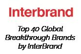 Interbrand Top 40 GLobal Breakthrough Brands by Interbrand badge