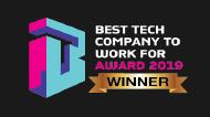 Best Tech Company to Work For 2019 Award Winner badge
